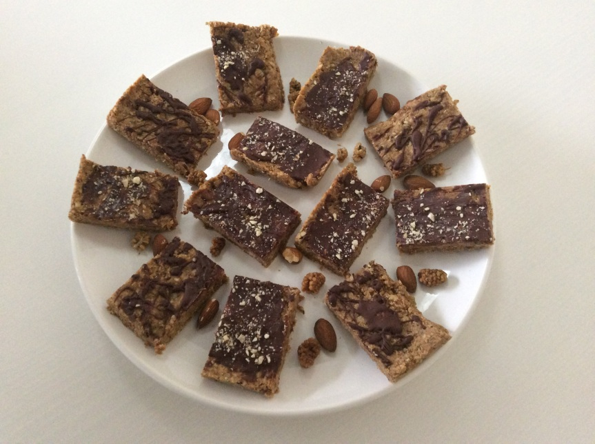 Raw Pitch Dark Figgy Almond Slices