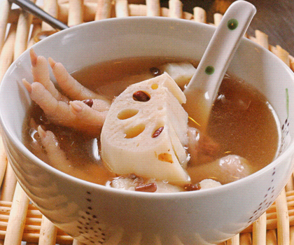 Lotus-Root-Rice-Bean-and-Chicken-Feet-Soup