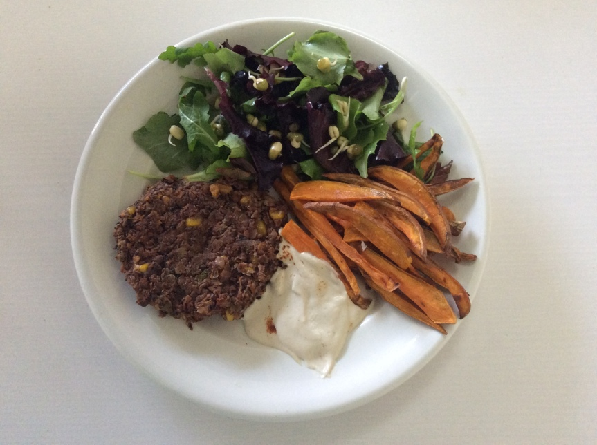 Vegan Black Bean & Walnut Veggie Burger