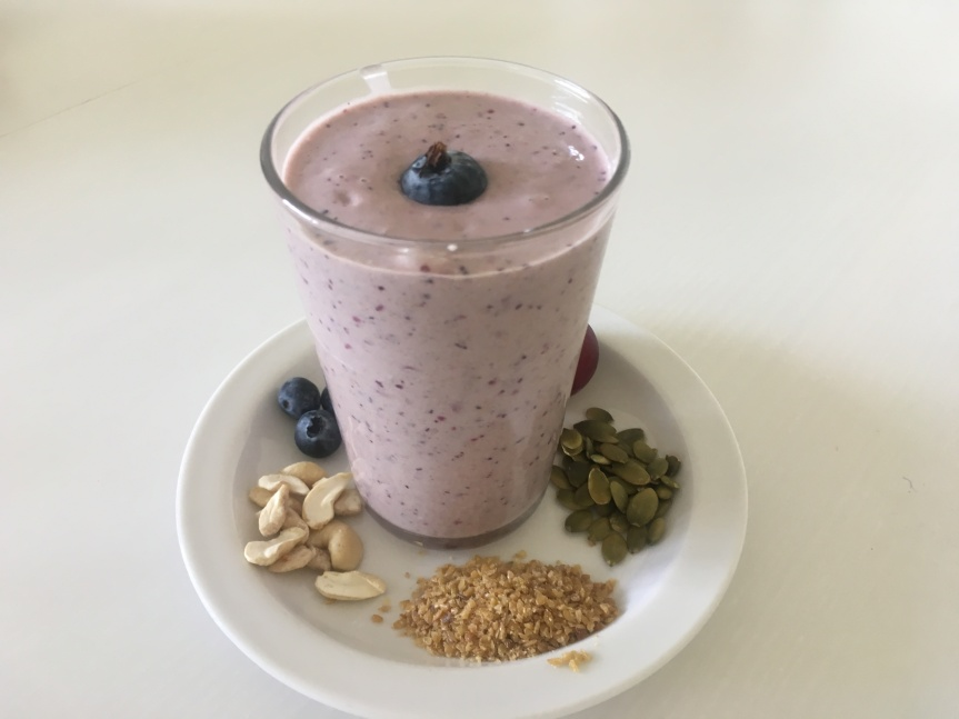 Omega-Rich Plum & Blueberry Smoothie