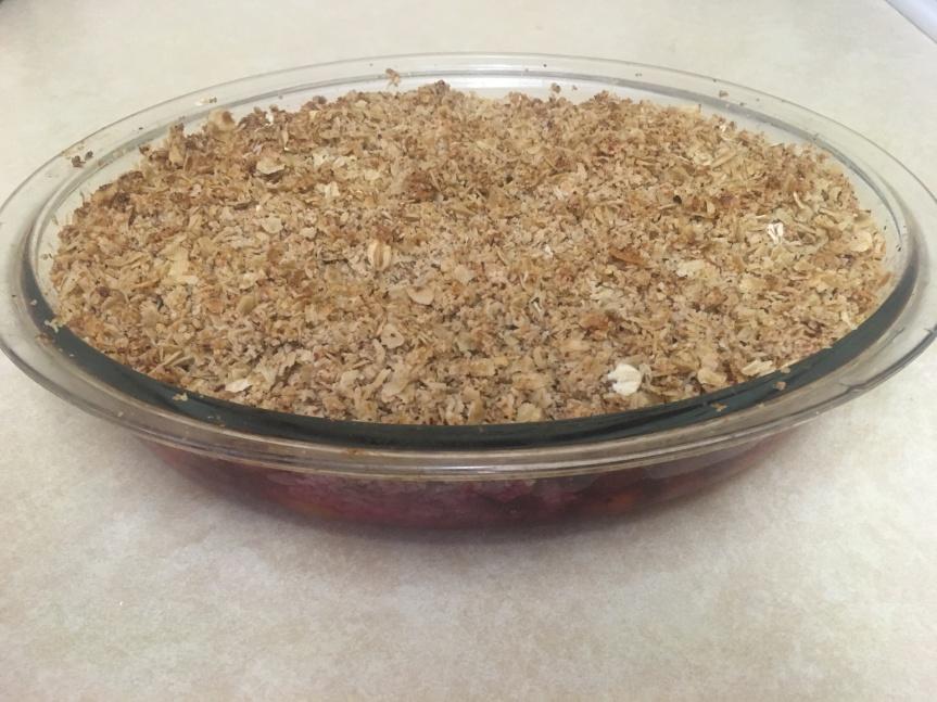 Vegan, Gluten-Free Plum Crumble – Nice, But Not TooNaughty!
